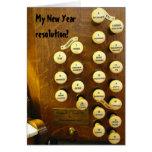 Tarjeta del órgano de la resolución del Año Nuevo