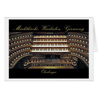 Tarjeta del órgano de Wiesbaden