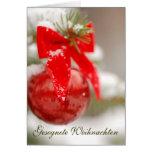Tarjeta del ornamento de Gesegnete Weihnachten