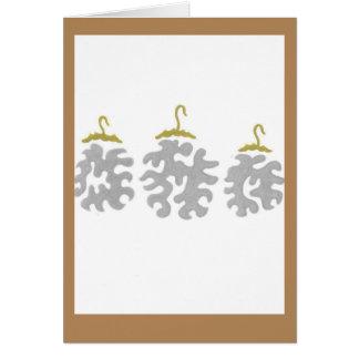 tarjeta del ornamento del día de fiesta