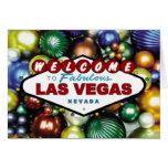 Tarjeta del ornamento del navidad de Las Vegas