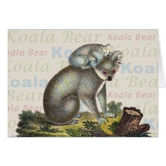 Tarjeta del oso de koala