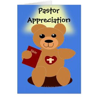 Tarjeta del oso de la biblia del aprecio del pasto