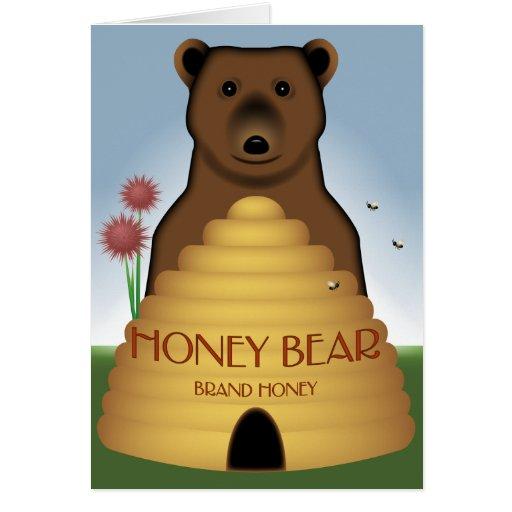 Tarjeta del oso de miel