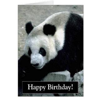 Tarjeta del oso de panda del feliz cumpleaños