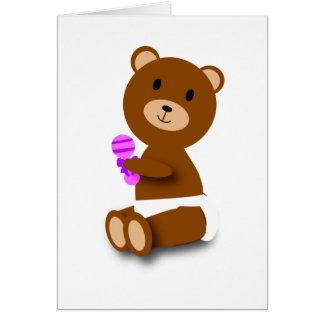 tarjeta del oso del bebé