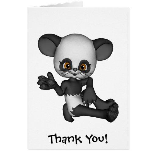 Tarjeta del oso del bebé de la panda de Kawaii