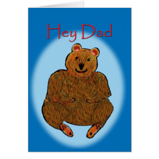 Tarjeta del oso del día de padre