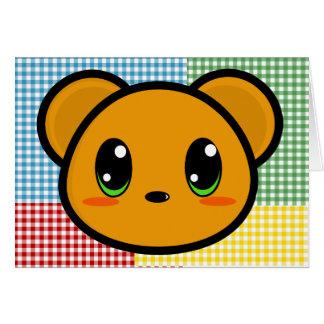 Tarjeta del oso del muchacho de Chibi