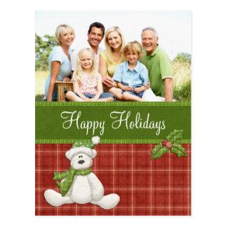 Tarjeta del oso del navidad postal
