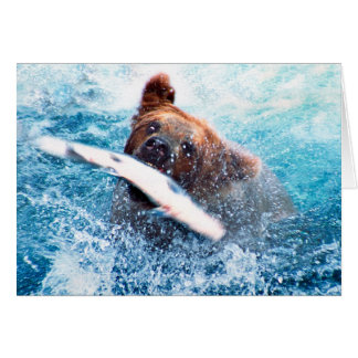 Tarjeta del oso grizzly