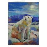 Tarjeta del oso polar