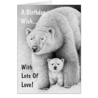 Tarjeta del oso polar y de felicitación de Cub