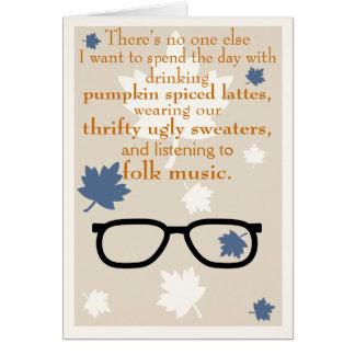 Tarjeta del otoño del inconformista