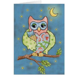 Tarjeta del Owlet y de mamá Owl del bebé