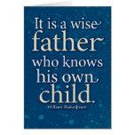 Tarjeta del padre - Shakespeare
