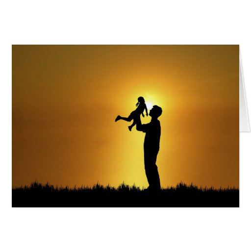 Tarjeta del padre y de la hija