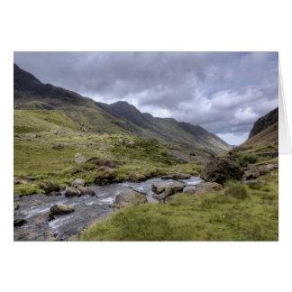 Tarjeta del paisaje Galés