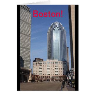 Tarjeta del paisaje urbano de Boston
