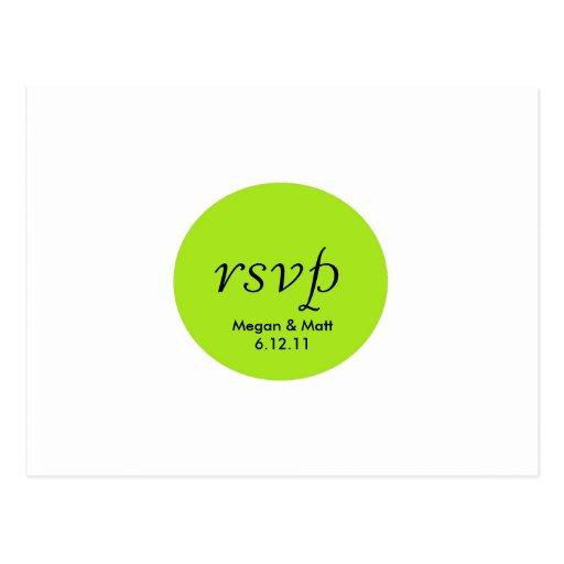 Tarjeta del pájaro de RSVP elegante de la silueta Postales