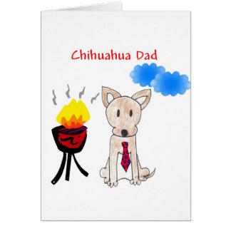 Tarjeta del papá de la chihuahua