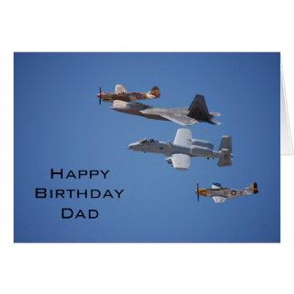 Tarjeta del papá del cumpleaños