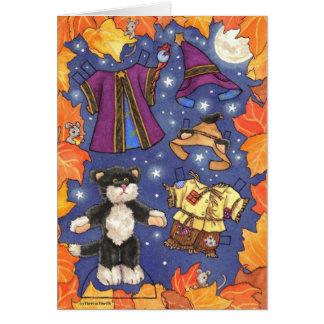 Tarjeta del paperdoll de Halloween