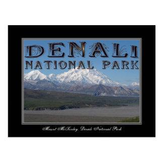 Tarjeta del parque nacional de Alaska el monte Tarjetas Postales