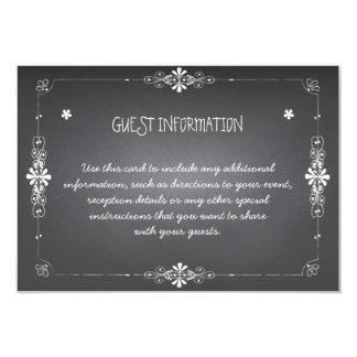 Tarjeta del parte movible de la información de la invitación 8,9 x 12,7 cm