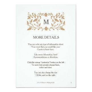 Tarjeta del parte movible del boda de la página invitación 11,4 x 15,8 cm