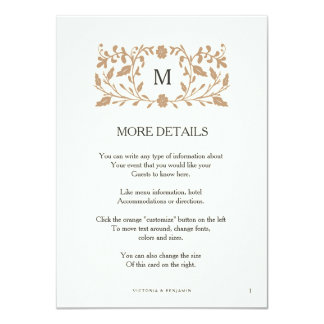 """Tarjeta del parte movible del boda de la página invitación 4.5"""" x 6.25"""""""