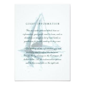 """Tarjeta del parte movible del boda del barco de invitación 4.5"""" x 6.25"""""""