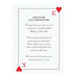 """Tarjeta del parte movible del boda del casino invitación 4.5"""" x 6.25"""""""
