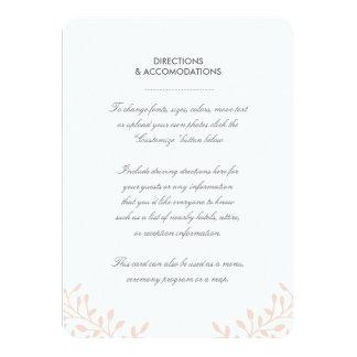 """Tarjeta del parte movible del boda del jardín invitación 4.5"""" x 6.25"""""""
