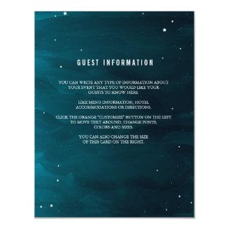 """Tarjeta del parte movible del boda del Stargazer Invitación 4.25"""" X 5.5"""""""