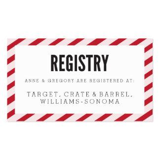Tarjeta del parte movible del registro de las tarjetas de visita
