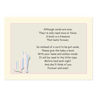 Tarjeta del parte movible del rosa del poema del l tarjetas de visita