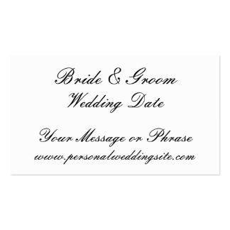 Tarjeta del parte movible del Web site del boda pa Tarjeta De Visita