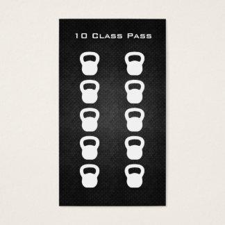 Tarjeta del paso de la clase de la aptitud 10 tarjetas de visita