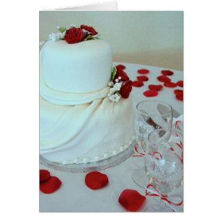 Tarjeta del pastel de bodas