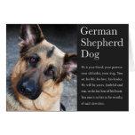 Tarjeta del pastor alemán