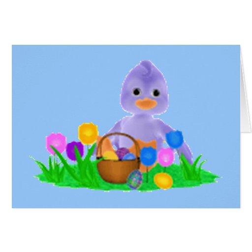 Tarjeta del pato de Pascua