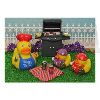 Tarjeta del pato del día de padre