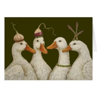 Tarjeta del pato del fiesta