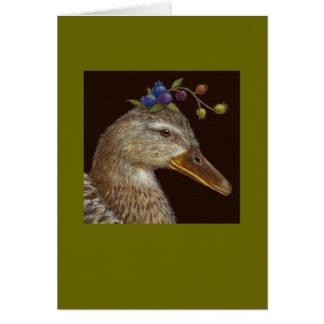 Tarjeta del pato del pato silvestre