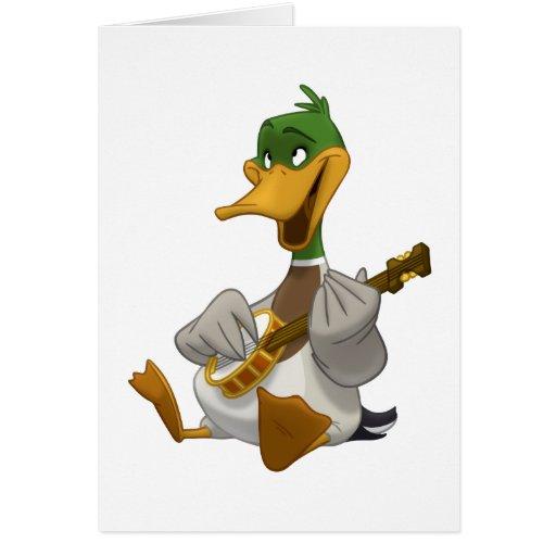 Tarjeta del pato silvestre del Banjo-Strummin' (es