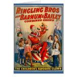 Tarjeta del payaso de circo del vintage del KRW