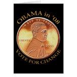 Tarjeta del penique de Barack Obama