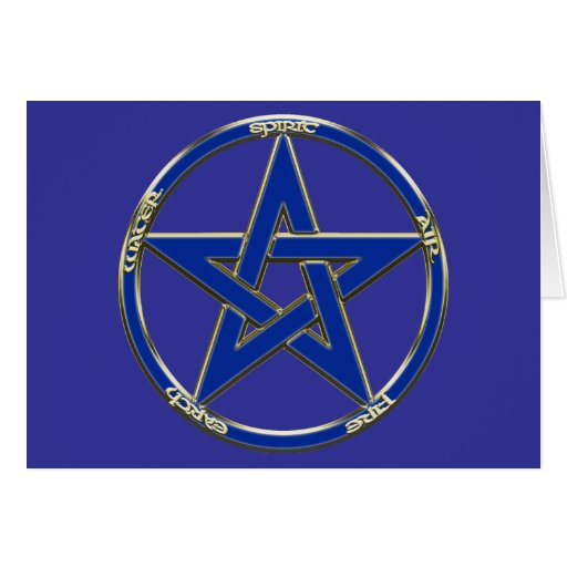 Tarjeta del Pentagram de la tierra, del aire y del
