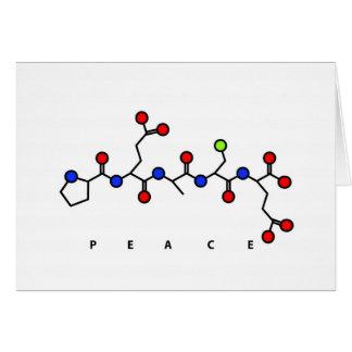 Tarjeta del péptido de la PAZ